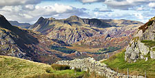 The Langdales from Wetherlam