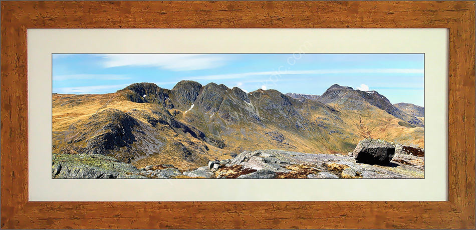 Crinkle Crags from Pike 'o Blisco