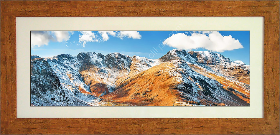 Crinkle Crags and Bowfell, captured from Side Pike, Langdale