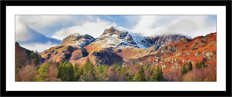 Langdale Pikes from Elterwater