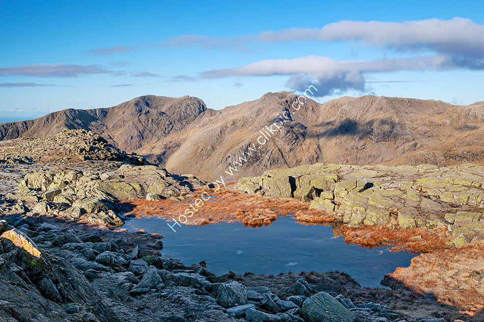 Scafells from Crinkle Crags.