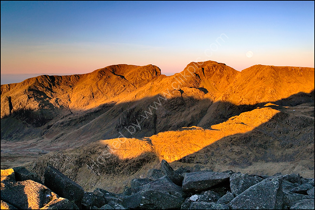 Dawn breaks over Scafell.