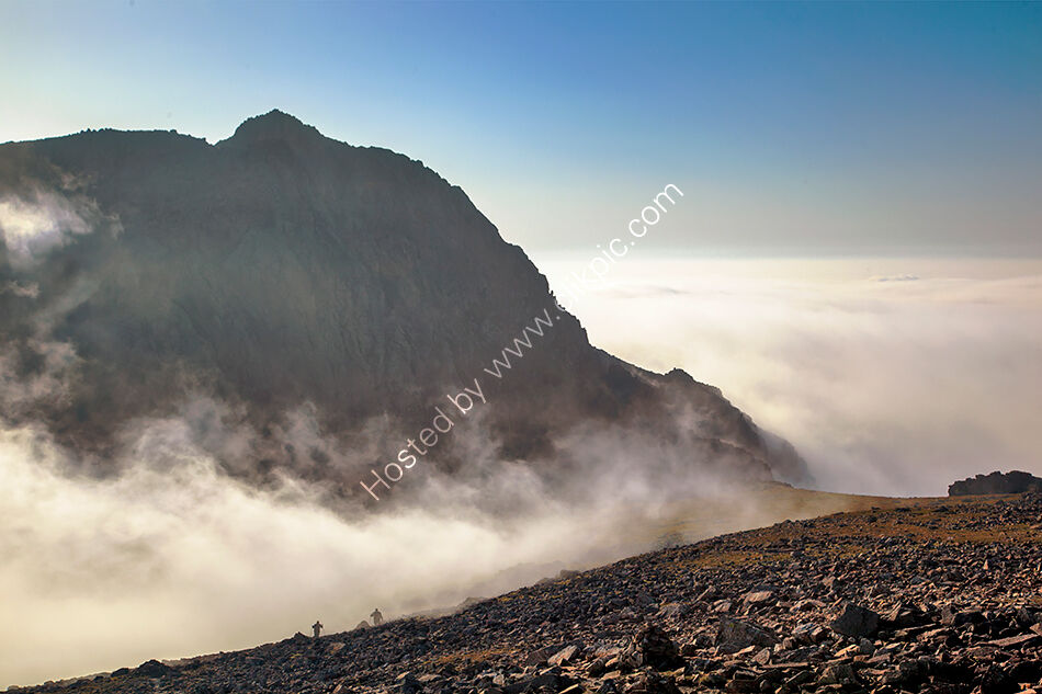 Scafell through the mist