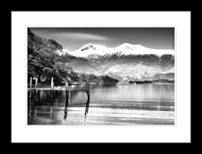 Skiddaw over Derwentwater framed