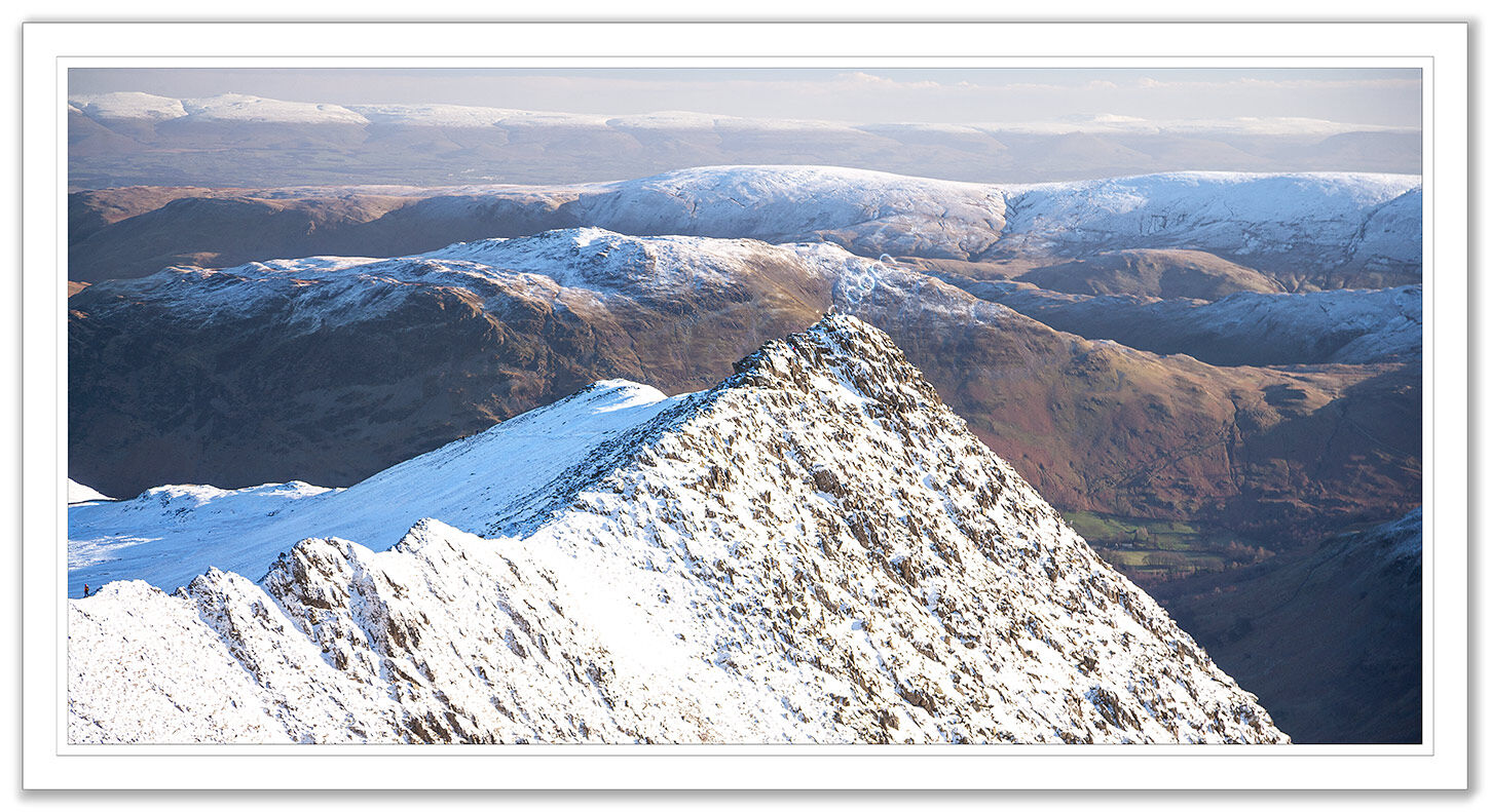 Striding Edge in Winter