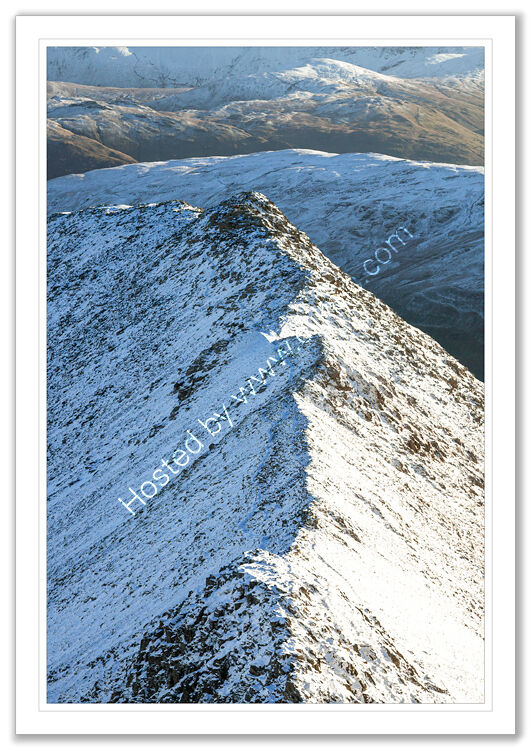 Striding Edge in winter 1