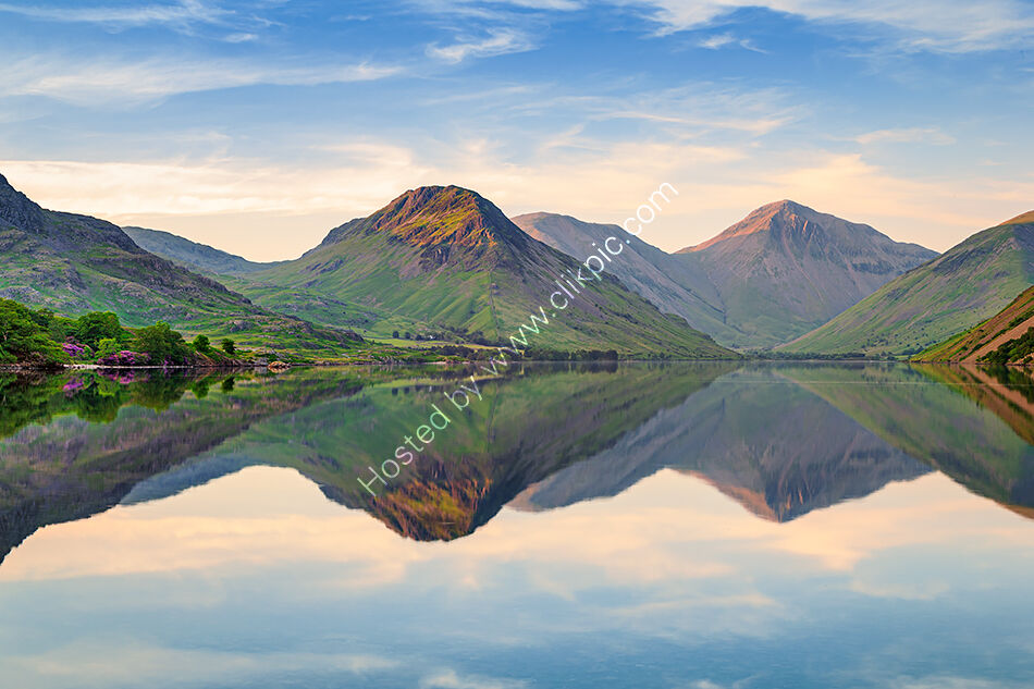Yewbarrow and Great Gable across Wastwater
