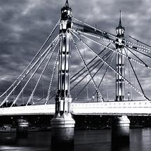 Albert Bridge - Black & White