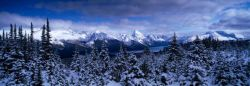 Lake Maligne from Bald Hills, Jasper National Park.