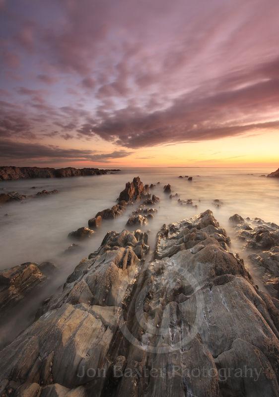 Woolacombe Sunset on the rocks ....