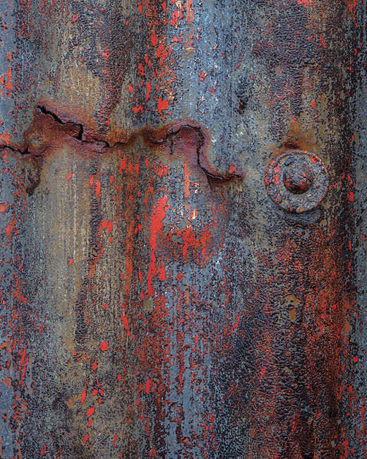 'Corrugated Rust Abstract'