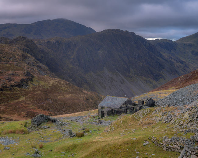 'Dubbs Hut in front of Haystacks'