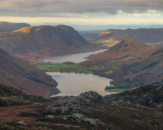 'Buttermere and Crummock from above Haystacks'