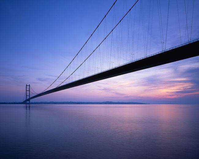 'Humber Bridge at sunset'
