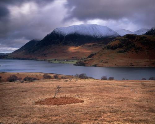 'Grassmoor lit over Crummock Water'