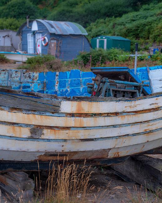 'Hut and boat'