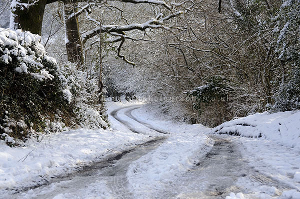 Snow on The Mendips