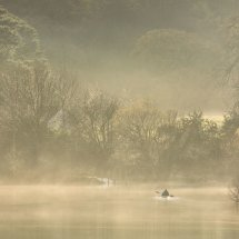 Canoeist in Mist, Derwent Water