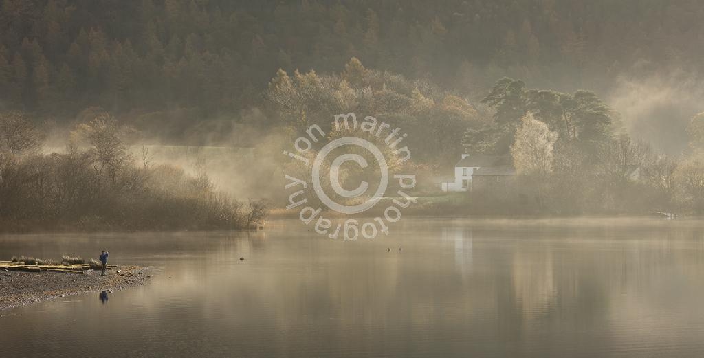 Mobile Phone Photographer, Derwent Water