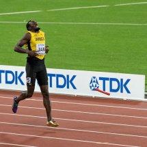 2017 Worlds Usain Bolt Dops Baton