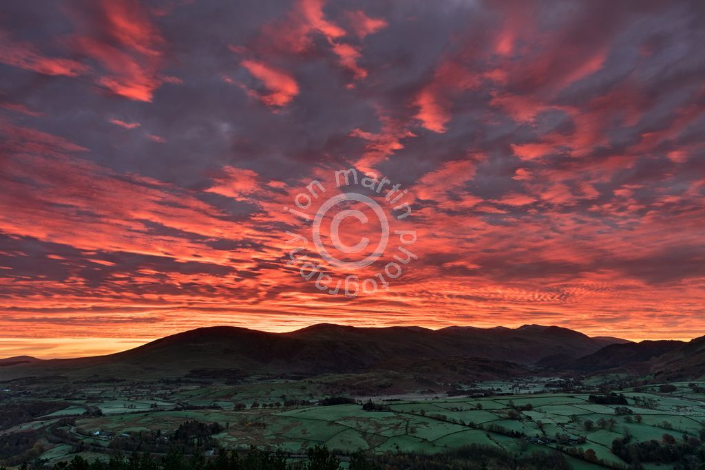 Colourful Sunrise from Latrigg