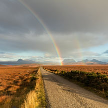 Rainbow over Assynt Mountains