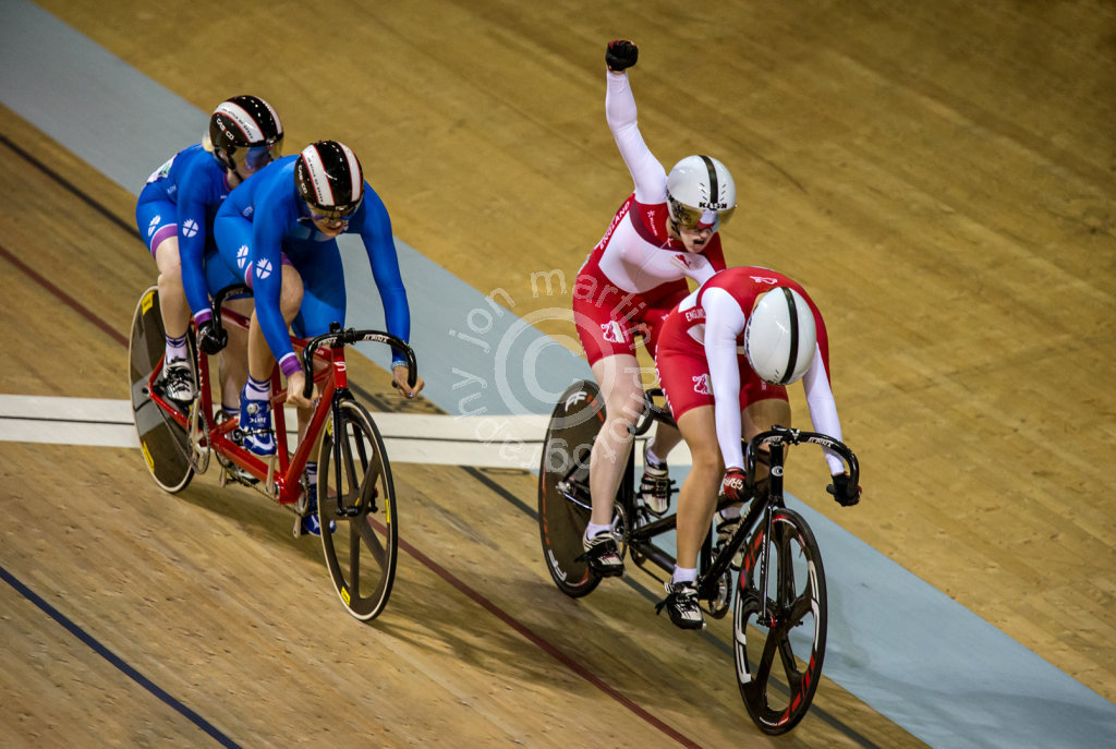 England Win at the Velodrome
