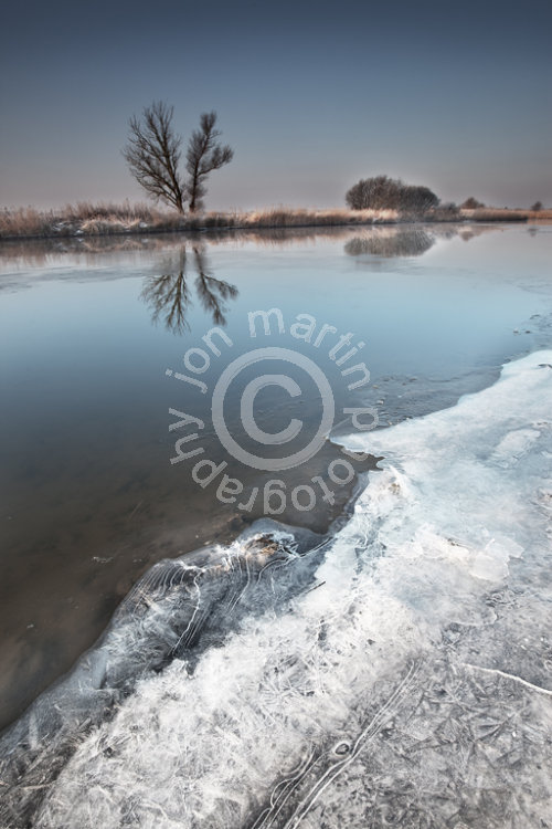 Frozen Norfolk Broads