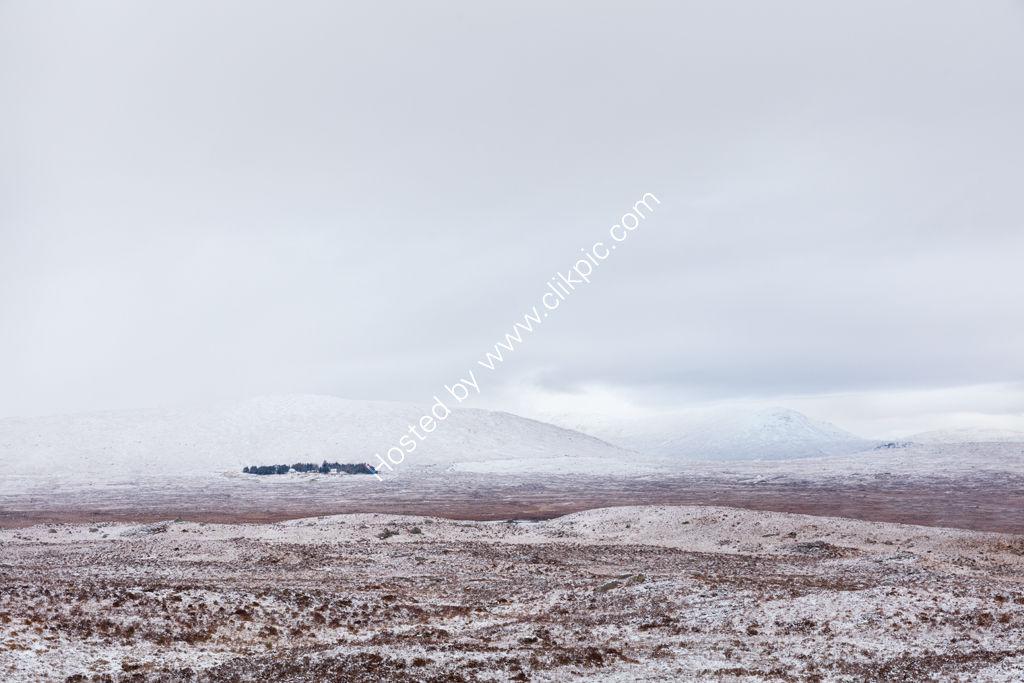 Snow Covered Rannoch Moor