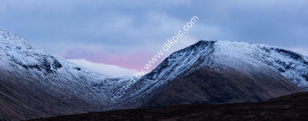 Glencoe Sunset Panorama