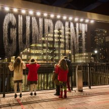 """Gunpoint'"" Winter Lights at Canary Wharf"