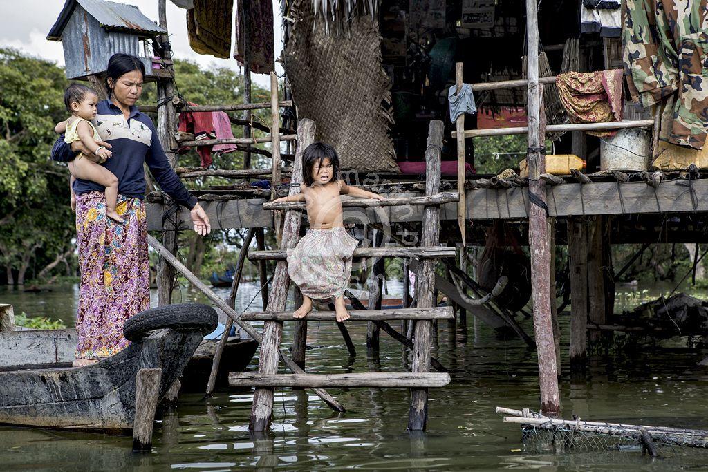 Hard Life at Floating Village
