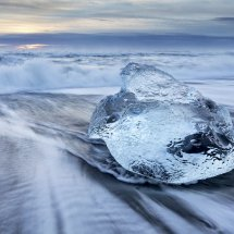 Ice on Jokulsarlon Beach