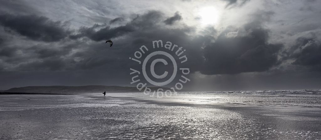 Kite Surfer on Ynyslas Beach