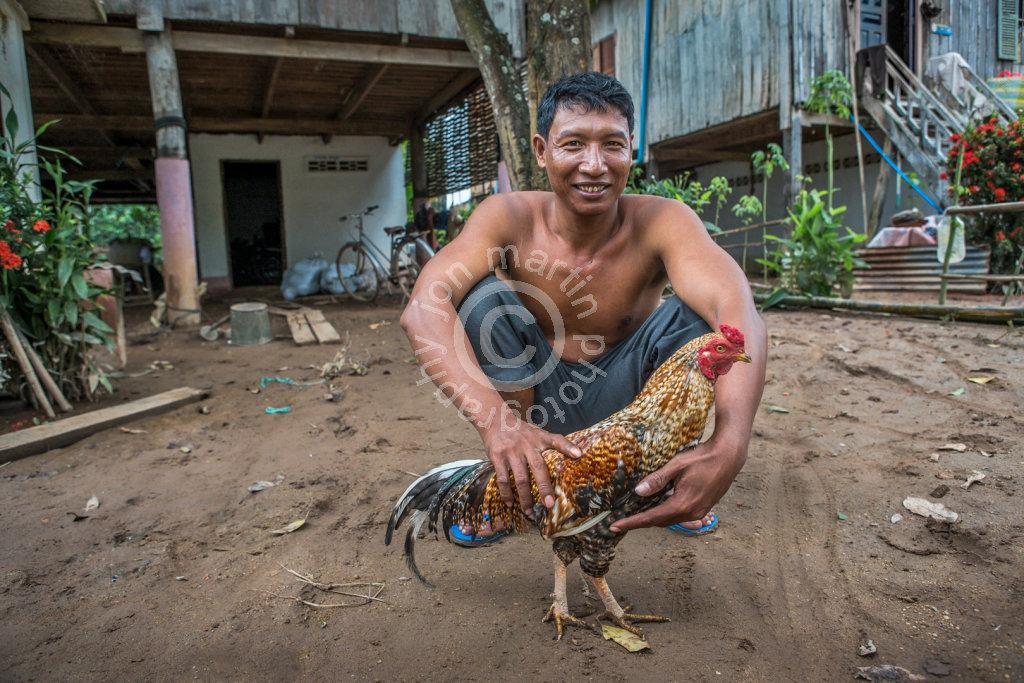 Man with Chicken