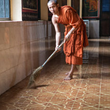 Monk Sweeping