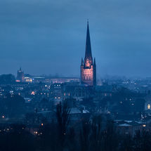 Norwich Cathedral at Dusk