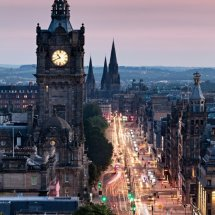 Princes Street at Dusk from Calton Hill, Edinburgh