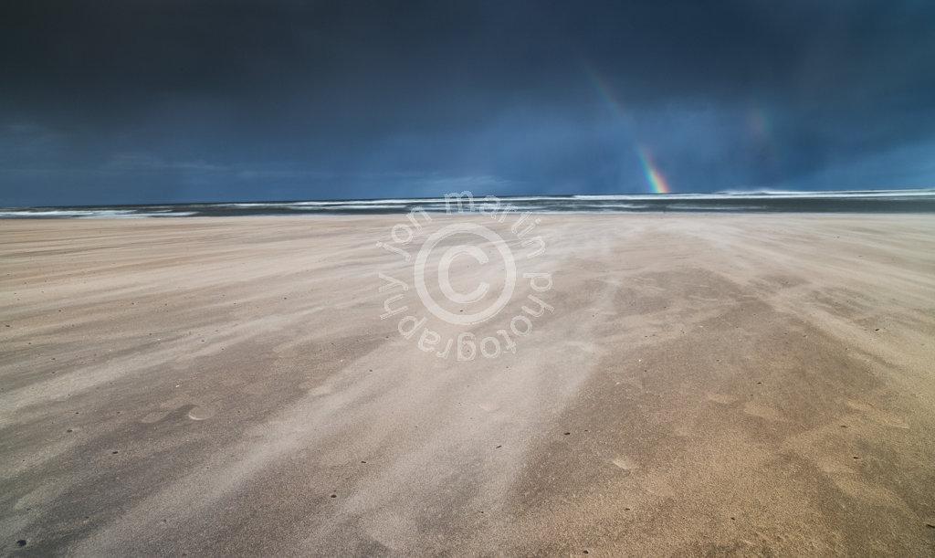 Rainbow on Alnmouth Beach