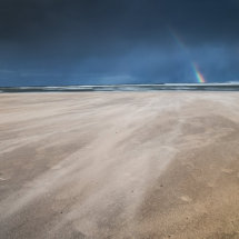 Rainbow on Alnmouth Beach