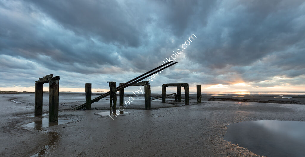 Ruined Pier, Snettisham Beach