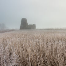 St Benet's Abbey Misty Panorama