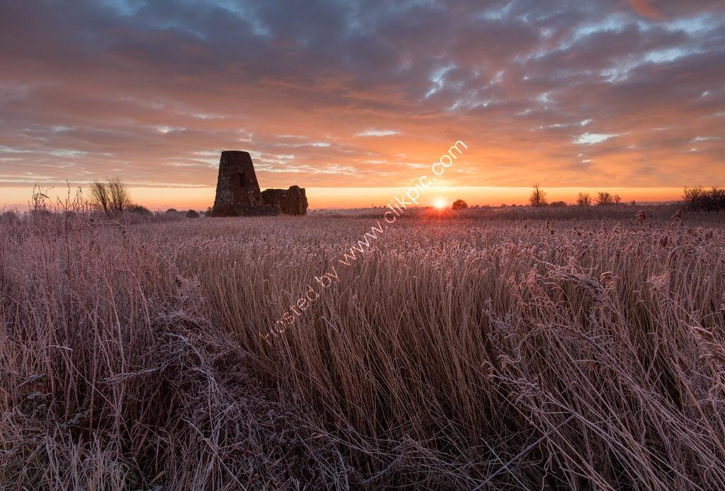 Winter Sunrise at St Benet's Abbey