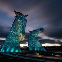 The Kelpies at Dusk, Falkirk