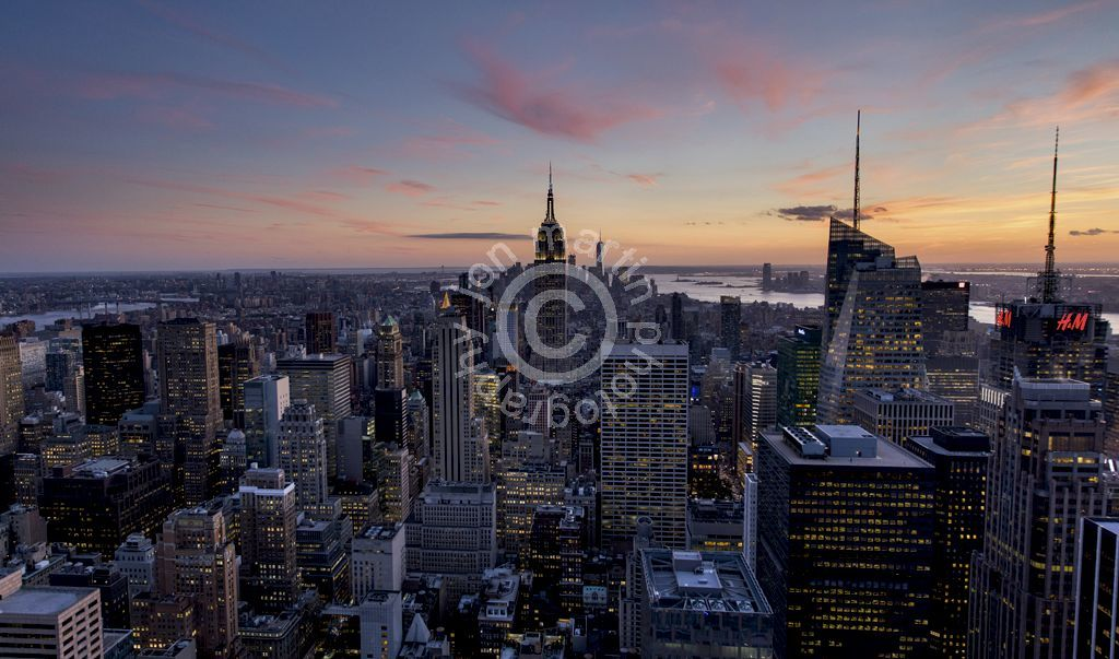 Top of the Rock at Dusk