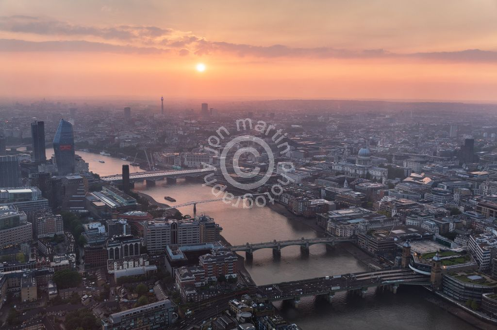 View from the Shard at Sunset