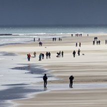 Walking on Bamburgh Beach for Home Page