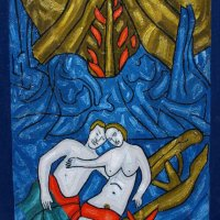 Lovers Outside a Cave