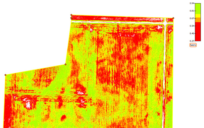 UAV NDVI Map