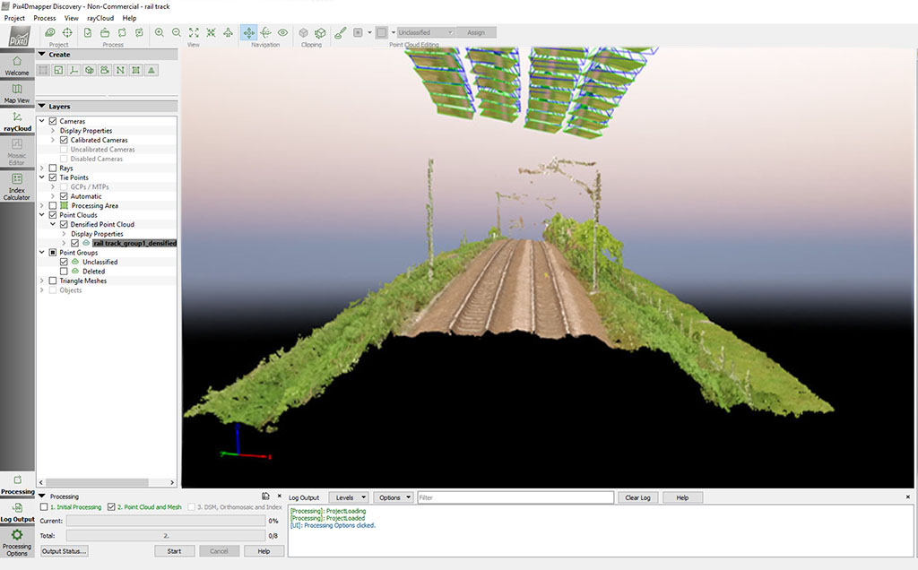 UAV Topographic Survey Rail Infrastructure